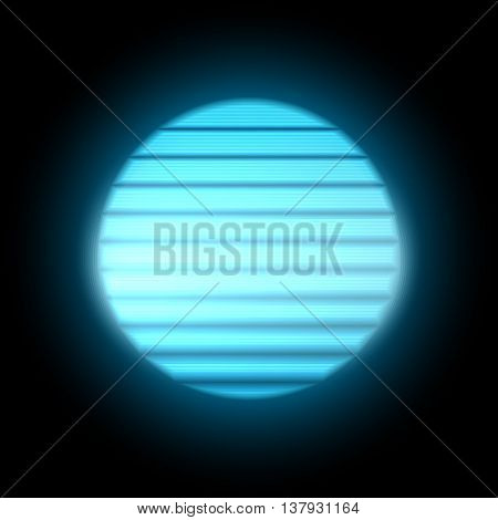 80s Retro Sci-Fi Sunset Background. Display Blue Dot. VHS. Vector EPS10.