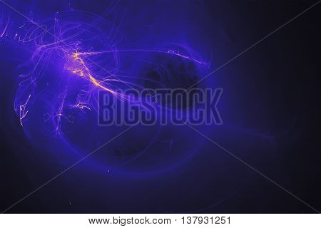 blue glow energy wave. lighting effect abstract background.