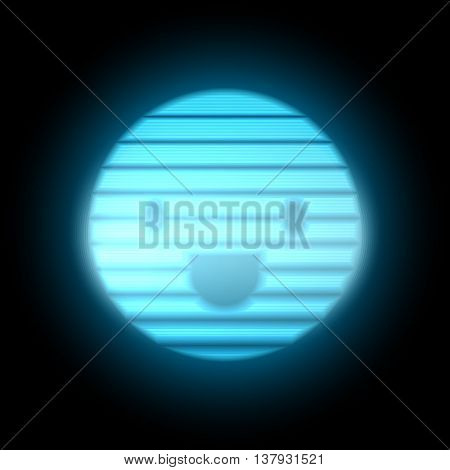 80s Retro Sci-Fi Emotion Smile Background. Display Blue Dot. VHS. Vector EPS10.