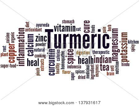 Turmeric, Word Cloud Concept 8