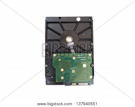 Hard disk drive for storage data isolated on white background