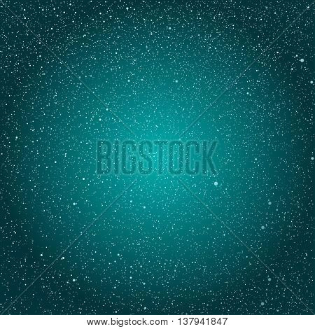 Vector background with snowflakes. Blue ice storm.