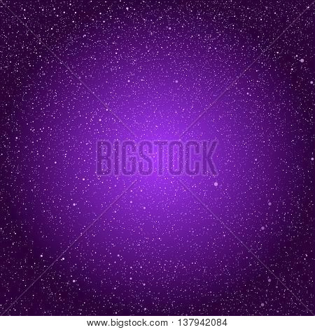 Vector background with snowflakes. Purple ice storm.