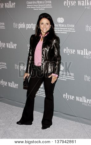 Julia Louis Dreyfuss at the 4th Annual Pink Party held at the Hanger 8 in Santa Monica, USA on September 13, 2008.