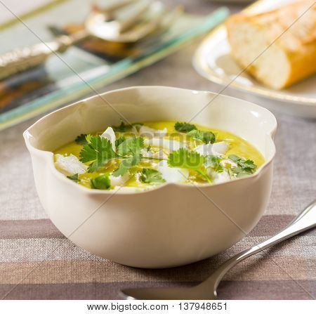 Bourride a traditional fish soup from France served with toast and aioli garlic sauce.