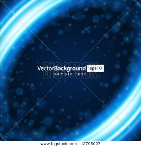 Abstract blue light smooth lines vector background. Eps 10.