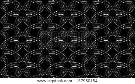 floral background abstract angular black white pattern with square black white texture with white lighting with grey line on black