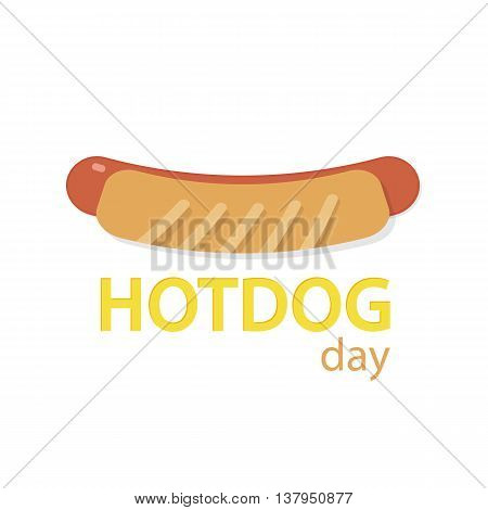 Hotdog icon in origami paper flat style vector ilustration