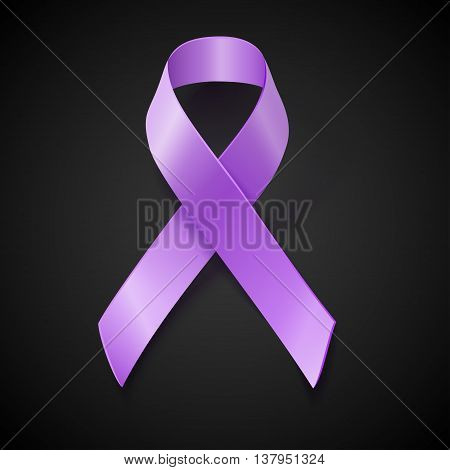 Periwinkle Ribbon. Eating Disorder Awareness Symbol