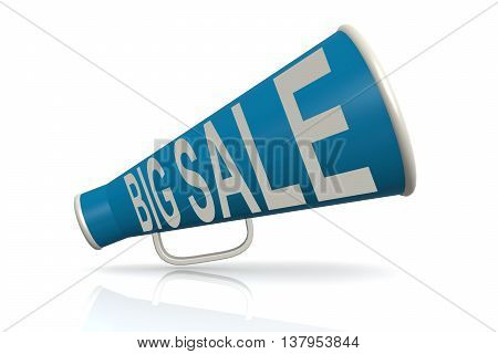 Blue Megaphone With Big Sale Word