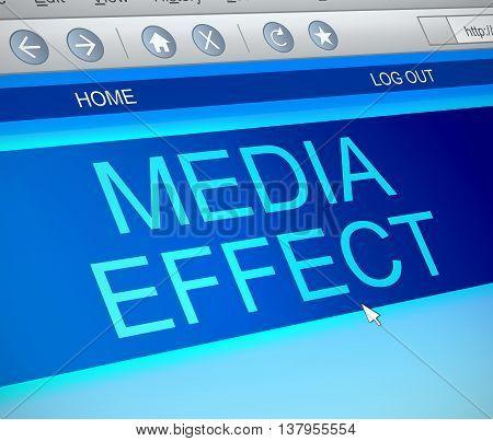 Internet Media Effect Concept.