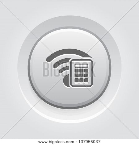Secure Access Icon. Flat Design. Mobile Devices and Services Concept. App Symbol or UI element. Grey Button Design