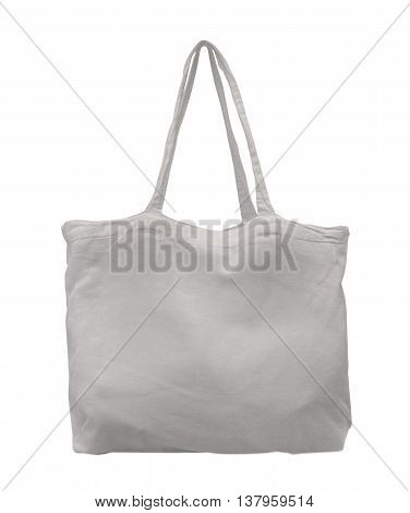 Fabric bag isolated on a white background.