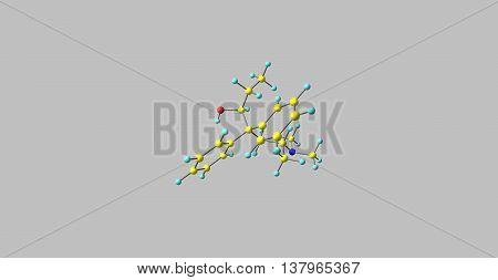 Betamethadol or betametadol is a synthetic opioid analgesic. It is an isomer of dimepheptanol. 3d illustration