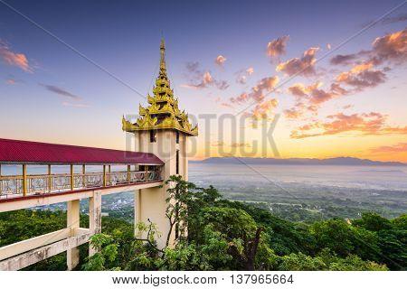 Mandalay Hill, Myanmar in the morning.
