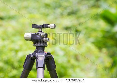 Close up Head Tripod in nature background