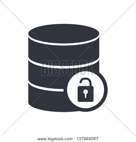 Database Lock Open Icon In Vector Format. Premium Quality Database Lock Open Symbol. Web Graphic Dat