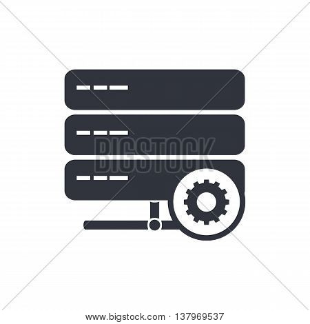 Server Settings Icon In Vector Format. Premium Quality Server Settings Symbol. Web Graphic Server Se