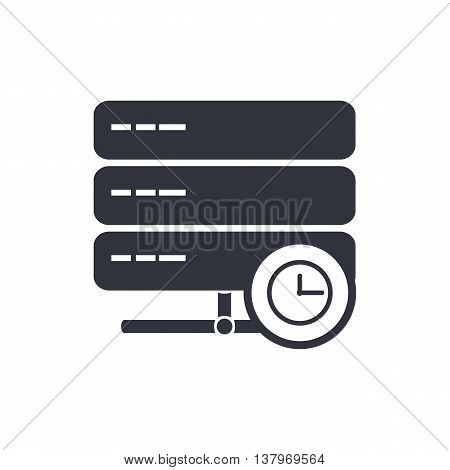 Server Time Icon In Vector Format. Premium Quality Server Time Symbol. Web Graphic Server Time Sign
