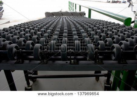 The image of automatic conveyor, Roller conveyor.