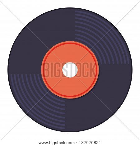 vinyl music isolated icon design, vector illustration  graphic