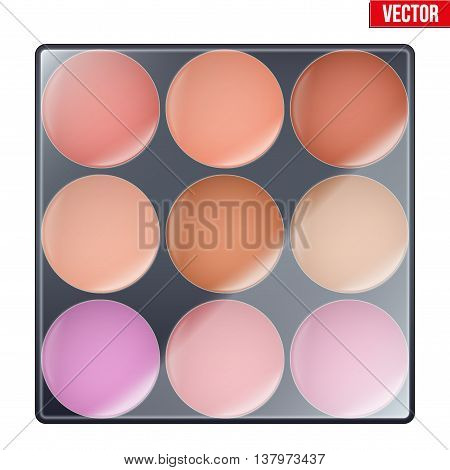 Colourful of Make Up Palette. Beauty and cosmetics design. Editable Vector illustration Isolated on white background.