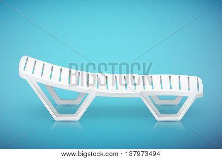 Single Plastic Deck-chair Beach Inventory