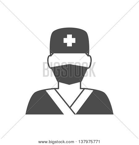 Doctor avatar icon. Surgeon doctor in medical clothes