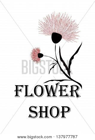 Emblem for flower shop or florist. It can be used as a sticker sign or advertisement or other