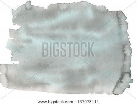 Abstract Blue And Grey Watercolor Background