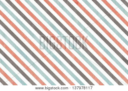 Watercolor Pink, Blue And Grey Striped Background.