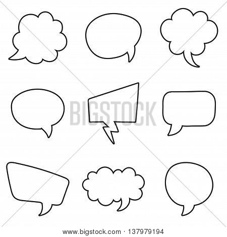 Speech bubbles set on a white background. Vector illustration