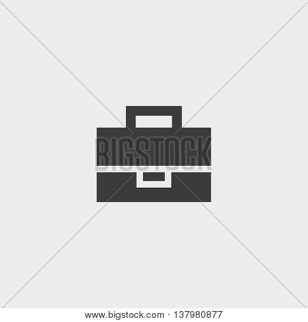Case icon in a flat design in black color. Vector illustration eps10