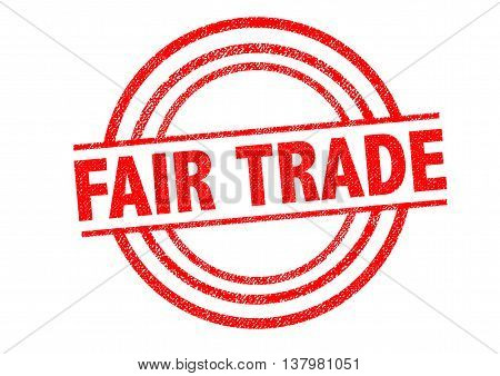 FAIR TRADE Rubber Stamp over a white background.