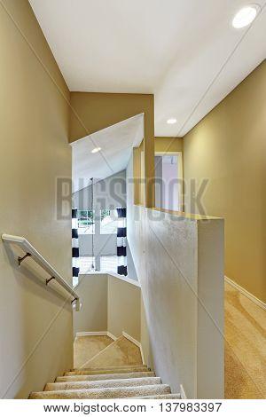 Bright Hallway With Carpet Floor