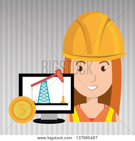 oil worker person isolated icon design, vector illustration  graphic