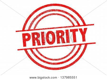 PRIORITY Rubber Stamp over a white background.