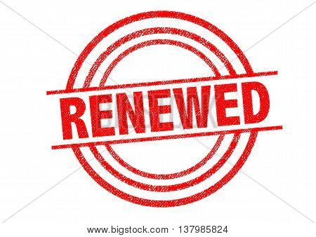 RENEWED Rubber Stamp over a white background.