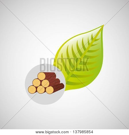 leaf with lumber green concept, vector illustration