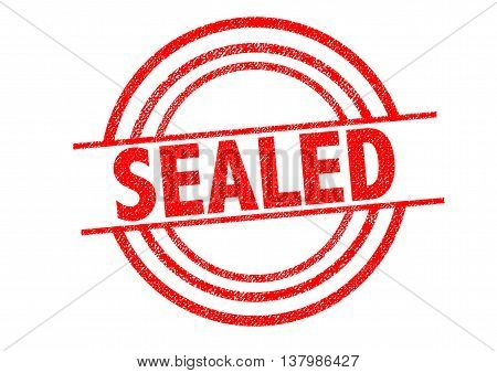 SEALED Rubber Stamp over a white background.