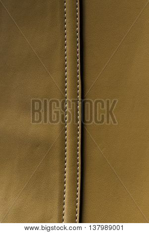 Brown Leather background With Seam background .