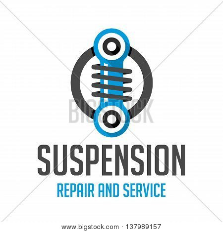Logo car tuning pattern. Icon for car air suspension.
