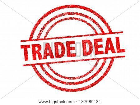 TRADE DEAL Rubber Stamp over a white background.
