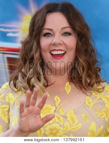 LOS ANGELES - JUL 9:  Melissa McCarthy at the Ghostbusters Premiere at the TCL Chinese Theater IMAX on July 9, 2016 in Los Angeles, CA