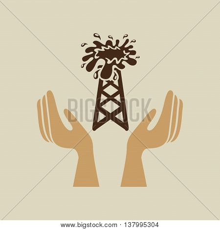 hand holding petrol green concept, vector illustration