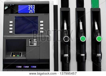 Fuel nozzles, closeup