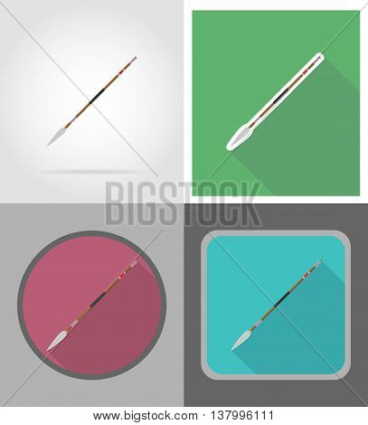 spear wild west flat icons vector illustration isolated on background