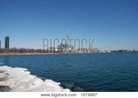 Toronto Skyline In Winter