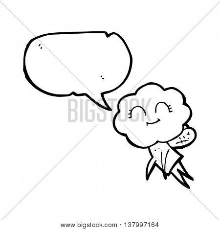 freehand drawn speech bubble cartoon magical creature