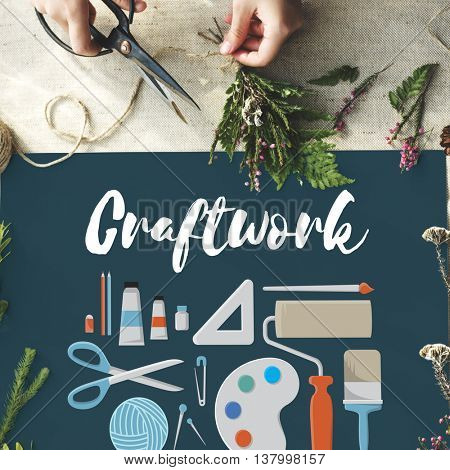Craftwork Arts and Craft Artistic Design Ideas Concept